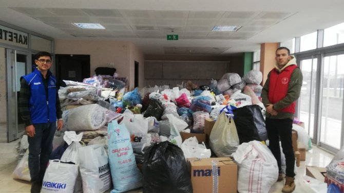 Karapınar'da İdlibliler için yardım kampanyası başlatıldı
