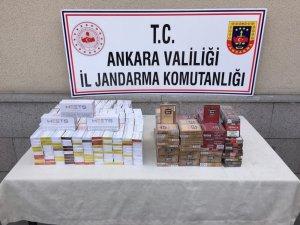 Ankara'da yolcuların valizinden 660 paket kaçak sigara ve 290 paket pipo tütünü çıktı