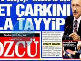 Sözcü Gazetesinin manşeti  pes  dedirtti