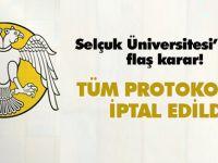 Selçuk Üniversitesi vakıf üniversiteleri ile protokollerini iptal etti