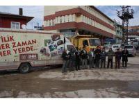 Derbent'ten Bayırbucak Türkmenlerine yardım