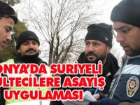 Konya'da Suriyelilerin mahallesinde arama yapıldı