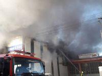 Konya'da İş yerinde çıkan yangın korkuttu