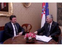 Zagreb Büyükelçisi Tuta Meclis Başkanı Reiner ile görüştü