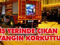 Konya'da iş yerinde yangın