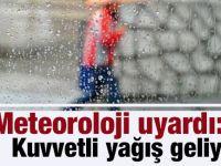 Meteoroloji uyardı: Kuvvetli yağış gelliyor