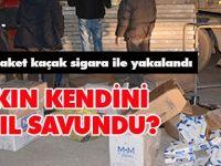 40 bin paket kaçak sigara ile yakalandı: Kendini böyle savundu