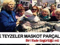 İzmir'in laik teyzeleri İsmail Kahraman'ın maskotunu parçaladı