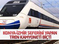 Konya-İzmir seferini yapan tren kamyoneti biçti