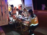Konya'da otomobil kaldırıma çarptı: 7 yaralı