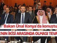 Bakan Ünal Konya'da konuştu: İki mübarek belde arasında olması...