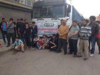 AYDER 135. yardım aracını Suriye'ye gönderdi