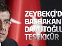 Nihat Zeybekçi'den Başbakan Davutoğlu'na teşekkür