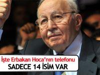 İşte Merhum Erbakan'ın telefonu ve 14 kişilik rehberi!