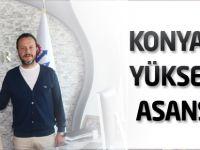Konya'da yükselen asansör
