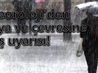 """Meteorolojiden """"Sağanak Yağış"""" Uyarısı"""