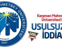 Karaman Mehmetbey Üniversitesi BESYO sınavlarında usulsüzlük iddiası!