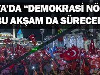 """Konya'da """"Demokrasi Nöbeti"""" bu akşam da sürecek"""