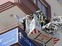Konya'da iş yerinde yangın paniği
