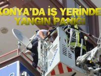Konya'da İş Yerinde Yangın Paniği