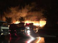 Konya'da bir fabrikada yangın çıktı
