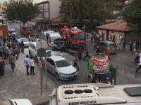 İstanbul Caddesi'nde ambulansta yangın