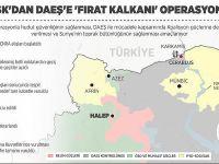 TSK'dan DAEŞ'e 'Fırat Kalkanı' operasyonu! İşte detaylar.