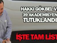 Konya'da Hakkı Gökbel ve 39 akademisyen tutuklandı İŞTE TAM LİSTE
