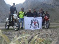 Motosiklet sevdalılarından Karagöl zafer tırmanışı
