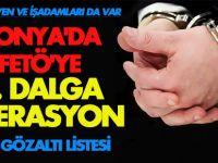 Konya'da FETÖ'ye 4. dalga operasyon! İŞTE TÜM LİSTE