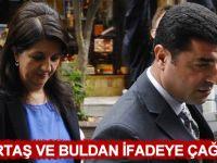Selahattin Demirtaş ile Pervin Buldan ifadeye çağrıldı