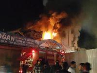 Konya'da bir iş yerinde yangın