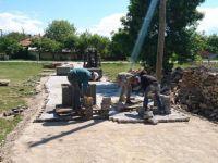 Beyşehir'in Akburun Mahallesi'nin Yolları Parke Taşıyla Kaplandı