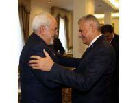 Yıldırım'ın İran Dışişleri Bakanı Zarif'i kabulü