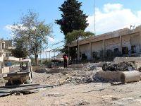 Suriye rejimi sivil savunma merkezini bombaladı