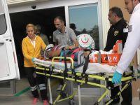 İnşaattan düşen çatı ustası yaralandı