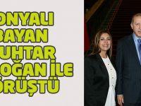 Konyalı bayan muhtar Erdoğan'la buluştu
