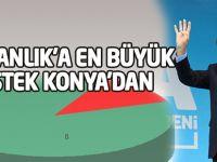 'Başkanlık'a en büyük destek Konya'dan