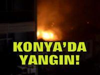 Konya'da yangın!