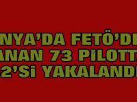 Konya'da aranan 73 pilottan 52'si yakalandı