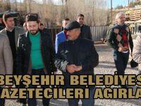 Beyşehir Belediyesi gazetecileri ağırladı