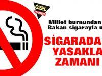 Millet burnundan soluyor, Bakan sigarayla uğraşıyor!