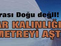Burası Doğu değil, Konya: Kar kalınlığı 4 metreyi aştı