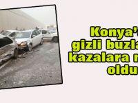 Konya'da buzlanma kazaya neden oldu