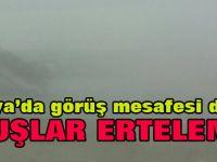 Konya'da uçuşlara sis engeli!
