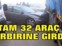 Konya'da Sis ve Gizli Buzlanma Nedeniyle 32 Araç Birbirine Girdi