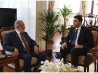 DP Genel Başkanı Uysal'dan Karamollaoğlu'na ziyaret