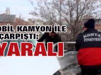Konya'nın Karapınar ilçesinde kamyon ile otomobilin çarpışması sonucu 7 kişi yaralandı.
