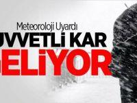 Konya'a kar yeniden geliyor