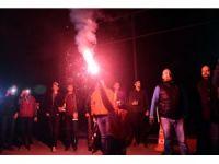 Eskişehirsporlu taraftarlardan futbolculara moral ziyareti
